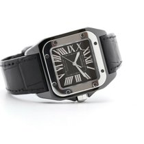 Cartier Ceramic Automatic Black No numerals 33mm pre-owned Santos 100