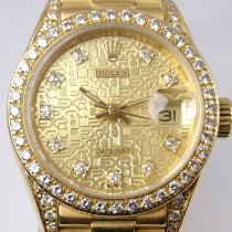 勞力士 Lady-Datejust 黃金 26mm 金色 無數字