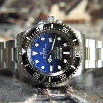 Rolex Sea-Dweller Deepsea Steel 44mm Blue No numerals United Kingdom, Whitby- North Yorkshire