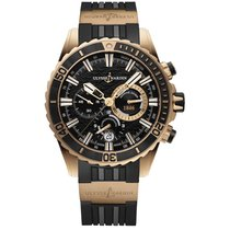 Ulysse Nardin Diver Chronograph Rose gold 44mm Black