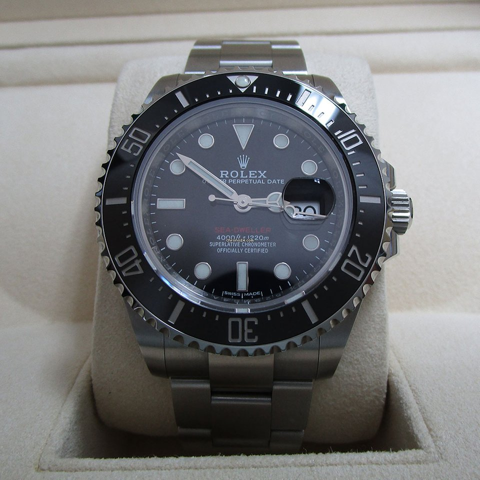Rolex Sea Dweller 4000 Stainless Steel Divers Watch