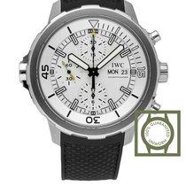IWC Aquatimer Chronograph 44mm Silver Dial Black Rubber NEW