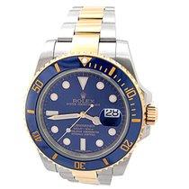 Rolex 40mm Two-tone Submariner Blue Dial Ceramic Bezel #116613
