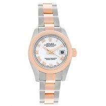 Rolex Datejust Ladies Steel Rose Gold Roman Dial Watch 179161...