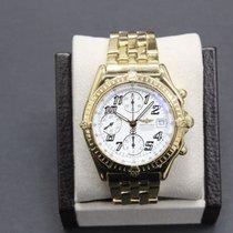 Breitling K13050.1 Chronomat 18k Yellow Gold White Chronograph...