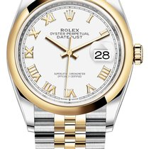 Rolex Datejust Gold/Steel 36mm White United States of America, New York, Airmont
