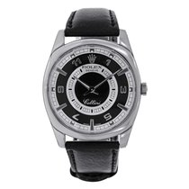 Rolex Cellini Danaos White Gold Black & Silver Dial Watch 4243/9