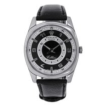 Rolex Cellini Danaos White Gold Black & Silver Dial Watch 4243/9