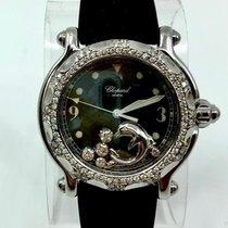 Chopard HAPPY SPORT Steel Watch Floating Factory Diamonds...