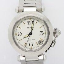 Cartier Pasha C Сталь 35mm Белый Aрабские