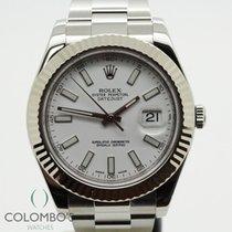 Rolex Datejust II Acero 41mm Blanco Sin cifras España, Granollers, www.colomboswatches.com