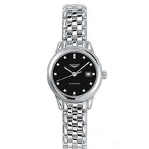 Longines Flagship Steel 30mm Black No numerals United States of America, New York, New York
