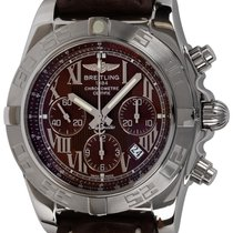 Breitling Chronomat 44 pre-owned 44mm Brown Chronograph Date Leather