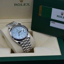 Rolex Day-Date 40 Platin 40mm Blau Römisch Deutschland, Siegburg