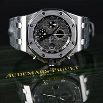 Audemars Piguet Royal Oak Offshore Chronograph tweedehands 42mm Grijs Chronograaf Datum Krokodillenleer