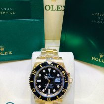 Rolex Submariner Date Gelbgold 40mm Schwarz Keine Ziffern