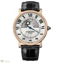 Cartier Rotonde de Cartier Jour et Nuit 18k Rose Gold Man`s Watch