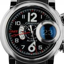Graham Swordfish Grillo GMT Alarm Stahl Automatik Chronograph...
