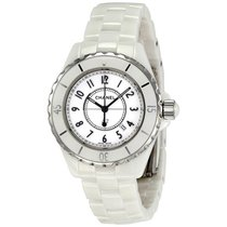 Chanel Ladies H0968 J12 Quartz White Ceramic Watch