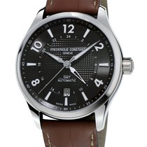 Frederique Constant Runabout Automatic FC-350RMG5B6 Frederique Constant Runabout GMT Nero Pelle nuovo