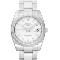 Rolex Oyster Perpetual Date 34 White Dial - 115234