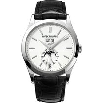Patek Philippe Annual Calendar White gold 38 mmmm Silver No numerals United States of America, New York, New York