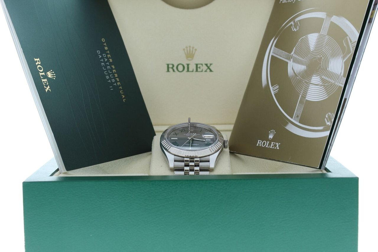28d3f0d2230 Rolex 41mm Datejust 126334 Jubilee Band Slate Roman Dial 18k... por 8.007 €  para vender por um Seller na Chrono24