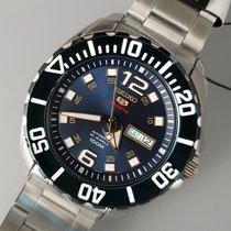 Seiko 5 Sports Acier 46mm Bleu Sans chiffres