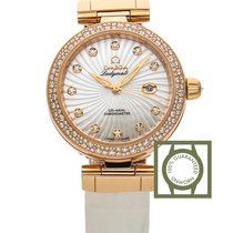 Omega De Ville Ladymatic 34 mm Co-Axial Red Gold Diamonds...