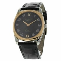Rolex Cellini Danaos pre-owned 33mm Black Crocodile skin
