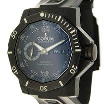Corum Admiral's Cup Seafender Deep Hull Titanium Black Arabic numerals