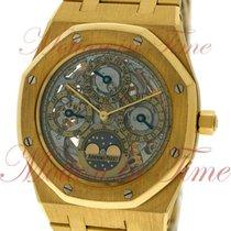 Audemars Piguet Жёлтое золото Автоподзавод Прозрачный 39mm подержанные Royal Oak Perpetual Calendar