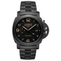 Panerai Ceramic Automatic Black Arabic numerals 45mm new Luminor 1950 3 Days GMT Automatic