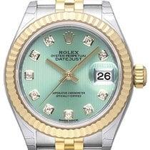 Rolex Lady-Datejust 28 279173 Mintgrün Diamant Jubile-Band