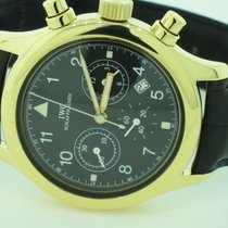 IWC Yellow gold Quartz Black Arabic numerals 36mm pre-owned Pilot Chronograph