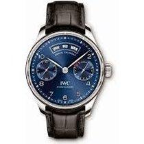 萬國 IW503502 Portuguese Annual Calendar Blue Dial Steel