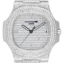 Patek Philippe 5711 Stainless Steel Full Diamond Set Custom Watch
