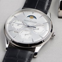 Jaeger-LeCoultre Steel Automatic Silver No numerals 39mm new Master Ultra Thin Perpetual