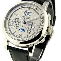 A. Lange & Söhne Datograph pre-owned 39mm Silver Crocodile skin
