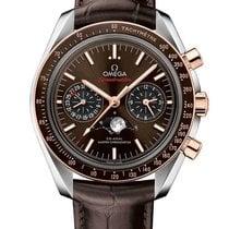 Omega Speedmaster Professional Moonwatch Moonphase Or/Acier Brun