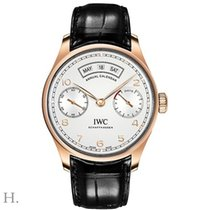 IWC Rose gold Automatic Silver 44.2mm new Portuguese Annual Calendar