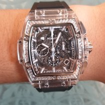 Hublot Spirit of Big Bang pre-owned Transparent Chronograph Rubber