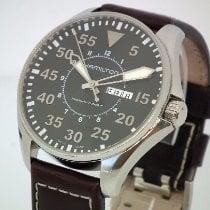 Hamilton Khaki Pilot pre-owned 46mm Black Date Leather