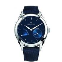 Pequignet Steel Automatic Blue pre-owned Rue Royale