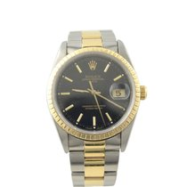 Rolex Oyster Perpetual Date 15233 Sehr gut Gold/Stahl 34mm Automatik