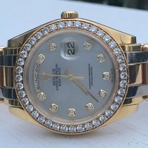 Rolex Day-Date Yellow gold 39mm Silver No numerals United States of America, New York, Greenvale