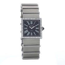 Chanel Mademoiselle Steel 23mm Black Roman numerals