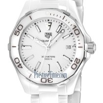 TAG Heuer Ceramic Quartz White 35mm new Aquaracer Lady