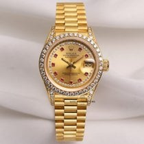 Rolex Very Rare Factory Rolex Lady DateJust 69158 18K Yellow...