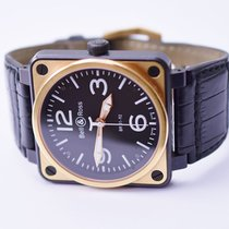 Bell & Ross Aviation BR01-92 Carbon Case & 18K Gold Watch on...